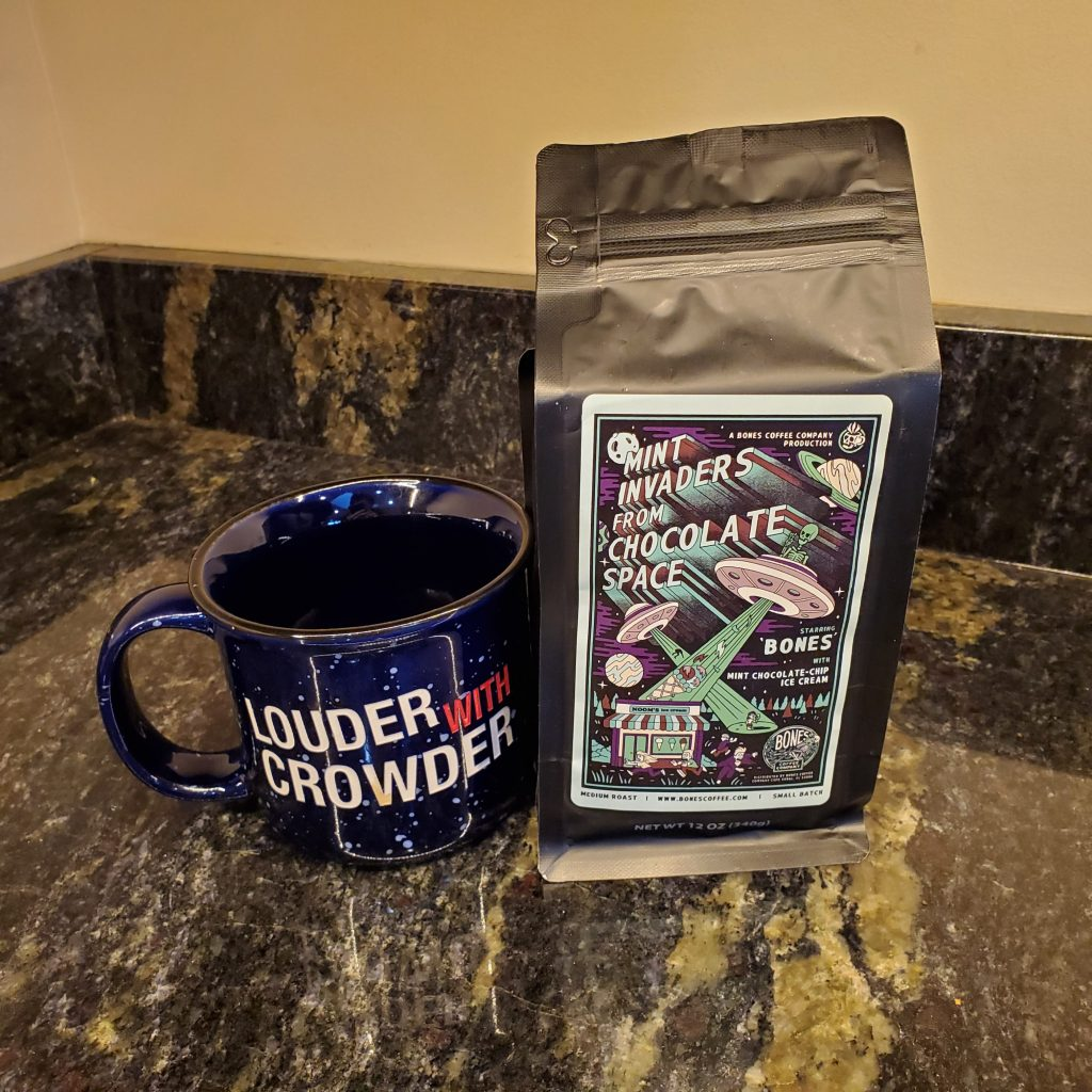 Mint Invaders coffee from Bones Coffee Company